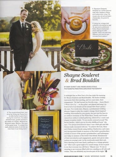 Shae & Brad in Whirl Weddings
